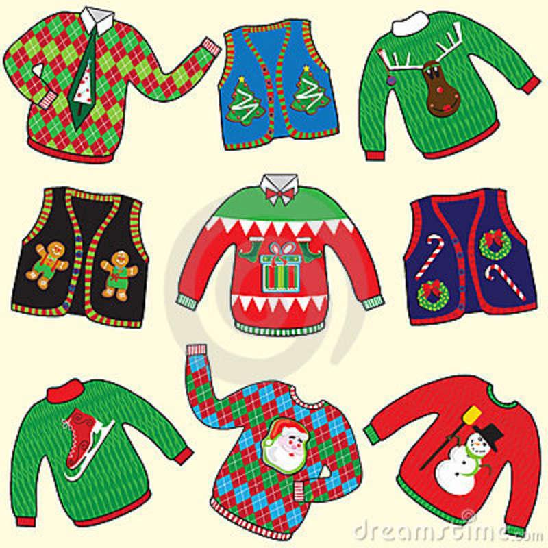 Ugly Christmas Sweater Cartoon.Ugly Christmas Sweaters 22281783 Mid South Ice House